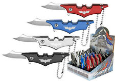 24 Qty Small Mini Batman Keychain Spring Assisted Folding Knife Display Box