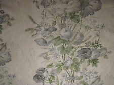 "SCHUMACHER CURTAIN FABRIC ""Boughton House"" 2.9 METRES GRIS 125TH ANNIVERSARY"