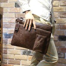 Men's Vintage Messenger Shoulder Business Briefcase Bags Leather Handbag  Brown