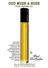Oud Rose Musk Pure Perfume Oil 12ml Rollerball Montale Type Attar Itr