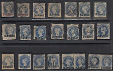 "Stamps South Australia 3d on 4d surcharges group of 22, 3 red & 3 ""E"" variety"