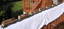 Unbelievable, Top Looking Logging Train - 8 cars - custom weathered - lot A - O