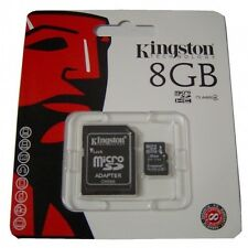 Kingston Memory Memoria Micro SD Microsd 8 gb Kingston SDHC Classe 4 Top