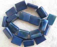 15x20mm Blue Agate Rectangle DIY Loose Beads Bead 14.5""