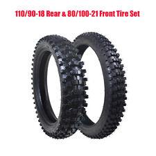 110/90-18 Rear Tyre 80/100-21 Front Tire +Inner Tube Trail Dirt Bike Motorcycle