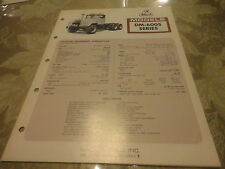 Rare 1971 Mack Trucks Model DM-600S Specification Sheet
