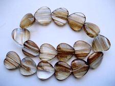 Golden Rutilated Quartz heart beads 25mm