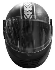 Kiwi Pixel Eco Full Face Helmet - Black, Size 580 mm with ISI Mark