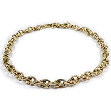 Dicke Echtgold Kette Grobe Gliederkette mit Karabiner 333 Gold L 46 cm Necklace