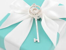 New Auth Tiffany & Co Large Atlas Key Pendant Charm For Necklace Or Bracelet