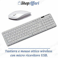 Tastiera Wireless 2.4GHz + Mouse Ottico Per Apple Mac, Macbook & Windows Lapt...