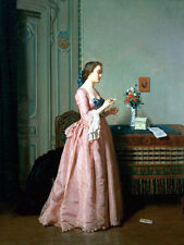 Oil painting Jean Carolus --The Love Letter nice young woman Hand painted