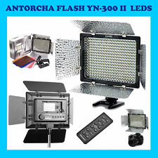 ANTORCHA YONGNUO YN-300-II 300 LED CANON NIKON OLYMPUS FLASH CAMARA FOTO VIDEO