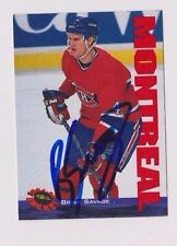 94/95 Classic Brian Savage Fredericton Canadiens Autographed Hockey Card