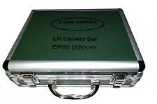 """12 PCs  ER50 COLLETS SET 3/8"""" TO 1-5/16"""" FOR MILLING LATHE ER 50 COLLETS"""