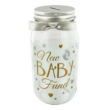 Novelty Gift - Glass Money Jar New Baby Fund quotation 6672