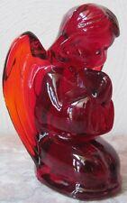 Praying Angel Figurine - Mosser USA - Red Solid Glass