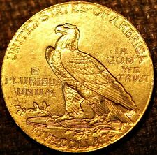 United States Gold Coin.  INDIAN HEAD . 5 Dollars $ 1914 . Liberty .KM-129