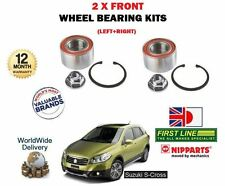 FOR SUZUKI SX4 S CROSS 1.6 M16A 2013-  NEW 2 X FRONT WHEEL BEARING KIT SETS