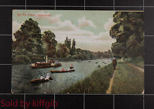 Eel Pie Island, Twickenham with paddle steamer and rowing boats postcard