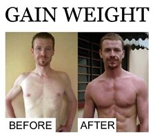 GAIN WEIGHT® GAIN MUSCLE 4 bottles FREE P&P worldwide