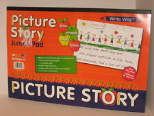 """2 Write Way Roselle Paper Picture Story 24 Sheet Jumbo Pads 18"""" x 12"""" Lined"""