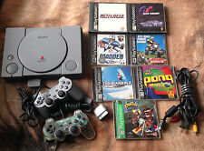 Playstation 1 complete system w/ 7 games, Metal Gear Solid, Crash, GT - tested