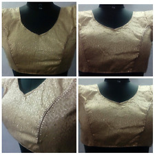 New Designer Bollywood Stitched Readymade Brocade Golden Stone Work Blouse  !!