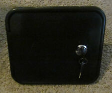 Valterra BLACK Gravity City Water Inlet Fill Dish Hatch Lock RV Trailer SALE
