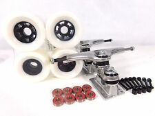 "Gullwing Sidewinder II 10"" Longboard Trucks + Blank 83mm White Wheels"