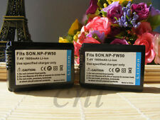 2 Pcs NP-FW50 Battery for SONY NEX-6 NEX-3N NEX-5T Alpha a7 a3000 a5000 a6000
