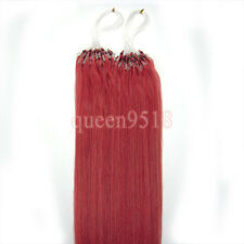 Easy Loop Micro Ring Beads Remy Human Hair Extensions Straight Black Blonde 100S