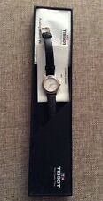 Authentic Tissot pr50 Black Leather Strap Watch Pre-Owned