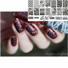 Nagel Schablone Nail Art Stamp Stamping Template Plates BORN PRETTY L020