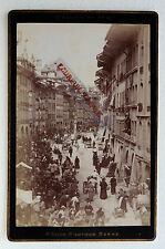 PHOTO ALBUMEN P. DOES à BERNE SUISSE la rue du marché animé N295