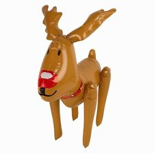 CHRISTMAS INFLATABLE REINDEER XMAS BLOWN UP ANIMAL CHARACTER/DECORATIONS 46CM
