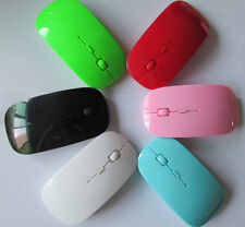 HOT Small 2.4GHz Ultra-Slim Mini Wireless MGC Optical Mouse Silver For Laptop