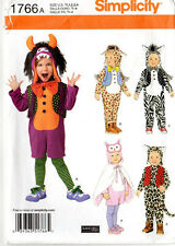 "Uncut 2012 Simplicity Sewing Pattern 1766 ""Toddlers' Costumes & Hat"" 1/2-1-2-3-4"