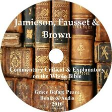 Jamieson Fausset Brown Bible Commentary PDF eBook on CD iPad PC Droid Compatible