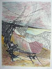 Lithographie originale Abstraite 128/155 signée Jong datée 1982