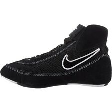 Nike  366684 001 Black White  Speed Sweep VII Wrestling Shoes size 6Y