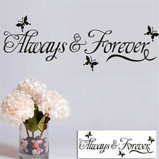 Always And Forever Quote Wall Stickers Wall Sayings Removable Vinyl Wall Decals