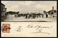 cartolina LECCE educandato v.e.-monumento libertini