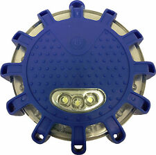 Magnetic Blue 12 LED Road Flare Emergency Warning Strobe Beacon Light Puck Disc