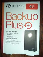 NEW Seagate Backup Plus 4TB Portable External Hard Drive