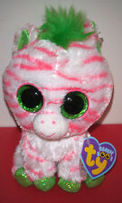 "Ty Beanie Boos ~ SAPPHIRE the 6"" Zebra ~ RARE Exclusive ~ MINT with MINT TAGS"