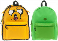 Adventure Time Finn Jake Reversible 3D ears School Large Backpack Book Bag Tote