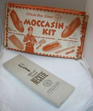 2 Vintage Boy Scout Boxes Necktie & Moccasin Kit Box Only on Each