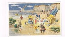 "Vintage db Medici Society Post Card Racey Helps ""Picnic on the Beach"" Pk 300"