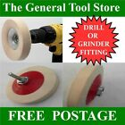 DRILL / GRINDER MOUNTED FELT BUFFING POLISHING WHEEL FOR STONE METAL GLASS